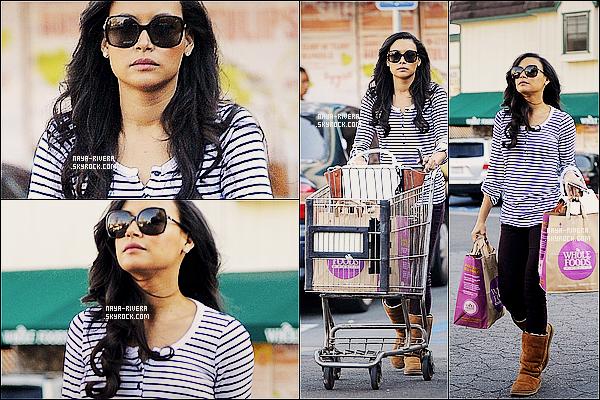 * 14/02/13 :  Naya a été aperçue seule allant faire ses courses au dans le  magasin Whole Foods     a  Los Angeles. *