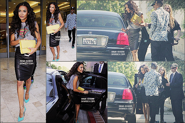 * 09/08/13 : Naya a été aperçue sortant de la radio    Power 106  accompagné de Big Sean  situé a  Los Angeles. *