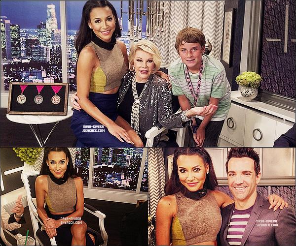* 30/08/13 : Naya était présente dans l'émission    Fashion Police  pour une interview  situé a  Los Angeles. *