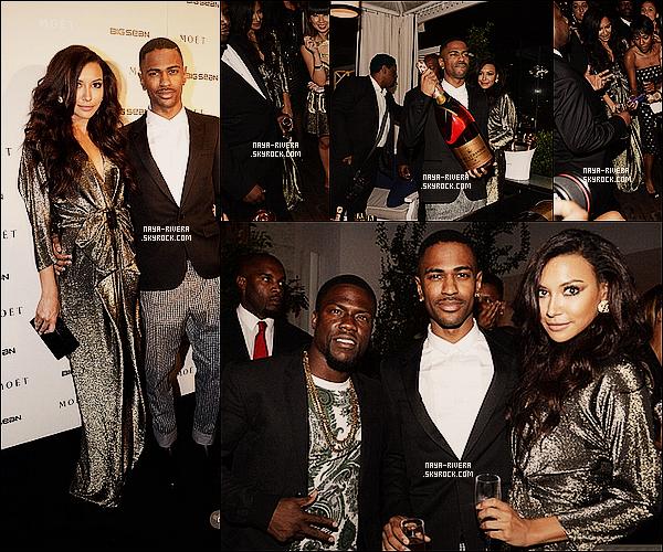* 13/08/13 : Naya était a la soirée de en l'honneur de    Big Sean     pour célébré la sortie de son album a  Los Angeles. *