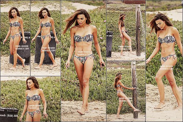 * 22/08/13 : Naya a été aperçu toute souriante en pleine séance de bronzage  sur l'une des     plages     de  Malibu. *