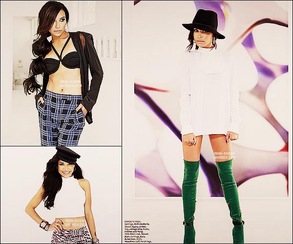 . Naya Rivera fait la couverture et a réalisé un photoshoot pour le  très célèbre  magazine « Latina »  .