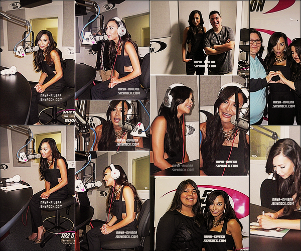 * 12/09/13 : Naya était présente lors d'un nouveau meet and greet dans une  radio   nommé Kdon     a  Los Angeles. *