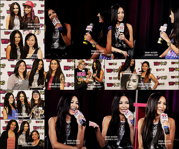 * 13/09/13 : Naya était de nouveau présente lors d'un meet and greet a la radio    iHeartRadio     a  Los Angeles. *