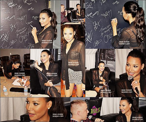 * 14/09/13 : Naya était présente lors d'un nouveau meet and greet a la radio    Live 105   situé  a  Los Angeles. *