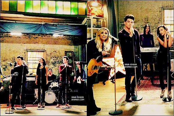 *  Deux nouvelles photos du tournage de     de la saison 5  de Glee avec Adam Lambert. *