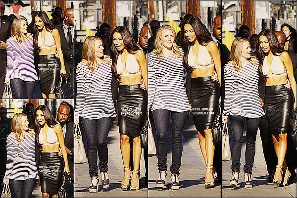 * 31/07/13 :  Naya a été vu se rendre a l'emission    Jimmy Kimmel Live     pour une interview situé a  Los Angeles. *