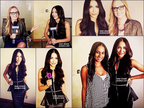 * 03/10/13 : Naya était présente pour une interview dans les studios de    RapUpTV situé    a  Los Angeles. *