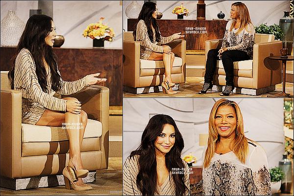 * 08/10/13 : Naya était présente lors du tournage de  l'emission de    Queen Latifah  situé   a  Los Angeles. *
