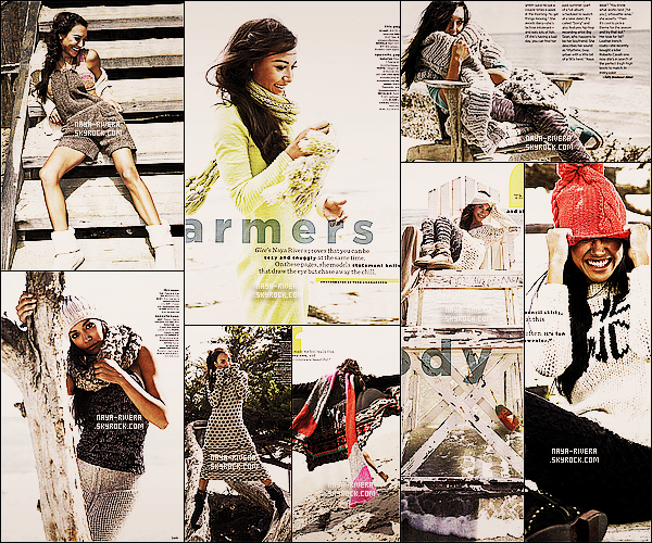 *  Naya fait l'objet de plusieurs pages pour le célèbre magazine du nom de   Women's Health. *