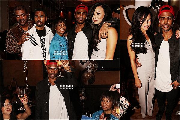 * 25/03/13 :  Naya était présente a la soirée d'anniversaire surprise de son chéri    Big Sean   situé  a  Los Angeles. *