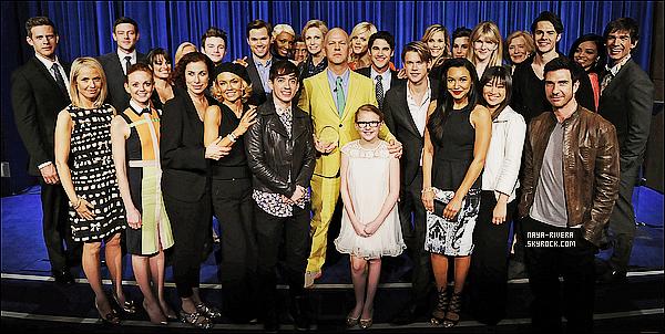* 28/02/13 :  Naya était présente a la soirée  en l'honneur de    Ryan Murphy    au Paley Center a  Los Angeles. *