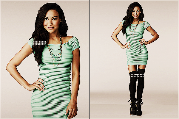 *  Deux nouvelles photo promotionnelles de    Naya  provenant du photoshoot de la saison 5 de Glee. *