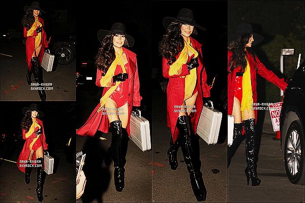 * 26/10/13 : Naya  était présente a la soirée     d'Halloween     en Ms Sandiego de Kate Hudson situé a Los Angeles. *