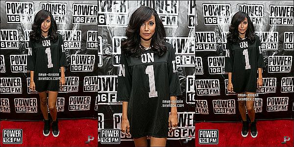 * 02/11/13 : Naya  a animé le match de basket au    Power 106's Celebrity Basketball Game    a  Los Angeles. *