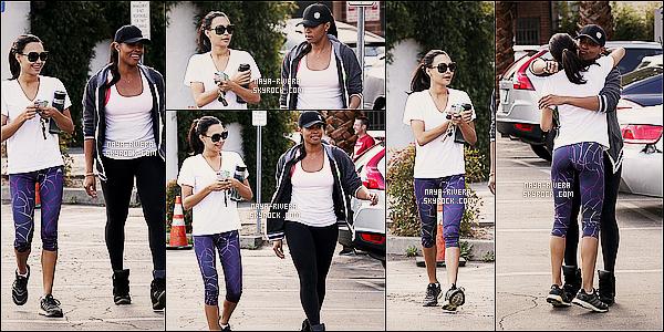 * 17/11/13 : Naya  a été vu prendre la direction de son cours de     GYM habituelle  situé dans  Los Angeles. *