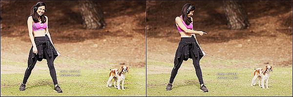 * 04/12/13 : Naya  a été aperçu faire un footing en compagnie de sa chienne    Lucie    au parc   Griffith a Los Angeles. *