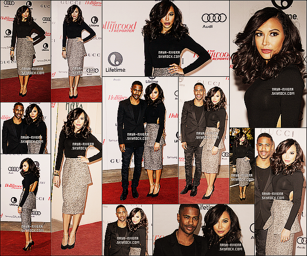 * 11/12/13 : Naya  s'est rendue au     Hollywood Women in Entertainment breakfast   situé  a  Los Angeles. *