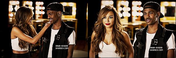 *  Différents Stills de    Naya  en compagnie de Big Sean pour l'émission  du nom de Styled to Rock. *