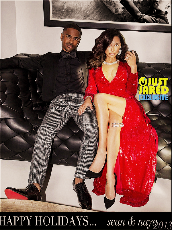 *  Découvrez des maintenant la carte de nöel des jeunes fiancés    Naya Rivera & Big Sean. *