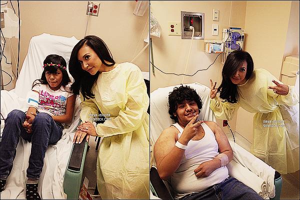 * 27/12/13 : Pendant les fêtes, Naya  a été  rendre visite a des enfants malades a l'hopital avec son fiancée   Big Sean. *