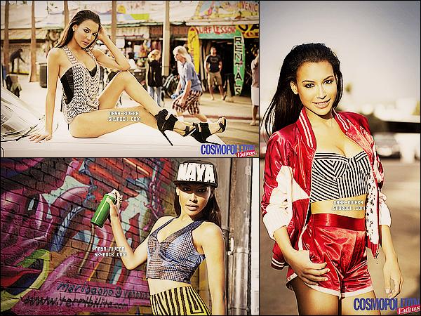 *  Naya fait la couverture et a réalisé un photoshoot       pour le magazine Comopolitan for Latina. *