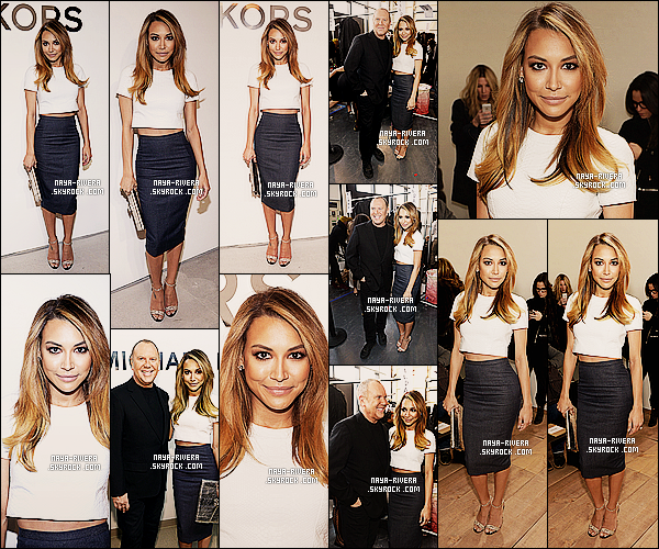 * 12/02/14 : Naya  s'est rendue au     Michael Kors New York Fashion Week show   situé  a  New York. *