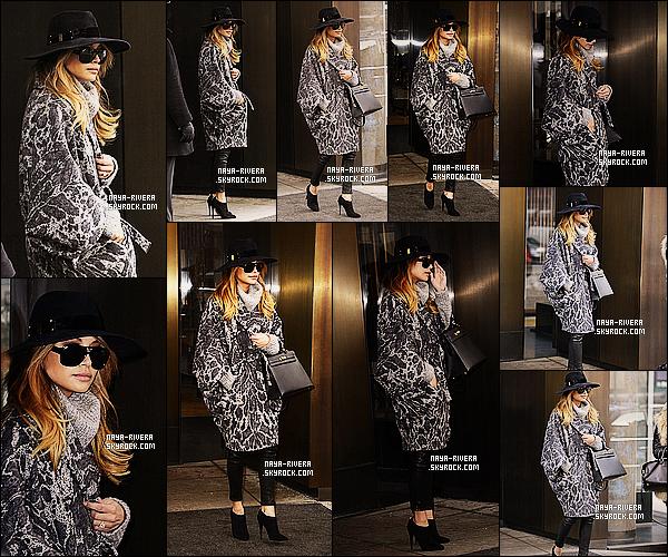 * 12/02/14 : Naya  a été aperçu quittant son hotel pour pouvoir rentrer chez elle a   Los Angeles     a  New York. *