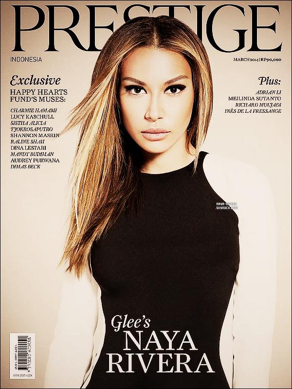 *  Naya fait la couverture et a réalisé un photoshoot       pour le magazine Prestige. *