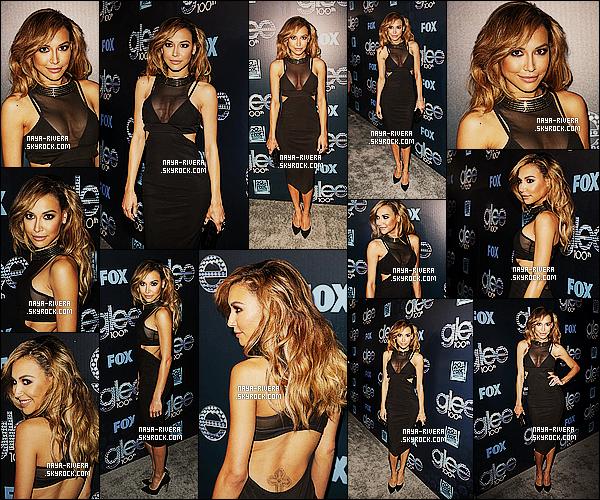 * 18/03/14 : Naya  a été aperçu pour faire  la fête pour célébrer le   100e épisodes   de la série glee  a  Los Angeles. *