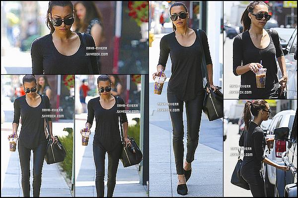 * 28/05/14 : Naya  a été aperçue après avoir été ce chercher un  café dans un   coffee bean   situé  a  Los Angeles. *