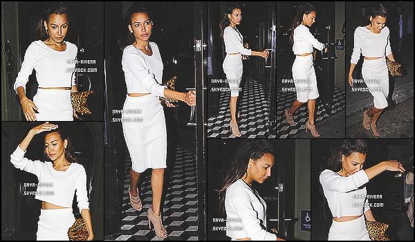 * 29/05/14 : Naya  a été aperçue seule après un bon dinner quitter le restaurant le   Craigs   situé  a  Los Angeles. *