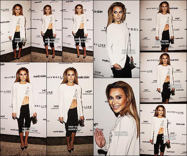 * 08/04/14 : Naya  a été aperçu lors d'une soirée organisé par le magazine   Marie Claire  situé   a  Los Angeles. *