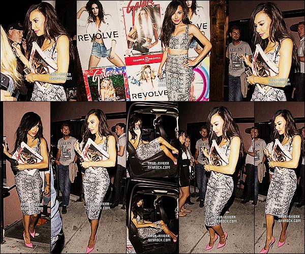 * 12/06/14 : Naya  a été aperçu lors de la soirée organisé pour la sortie du magazine    Galore    situé a  Los Angeles. *