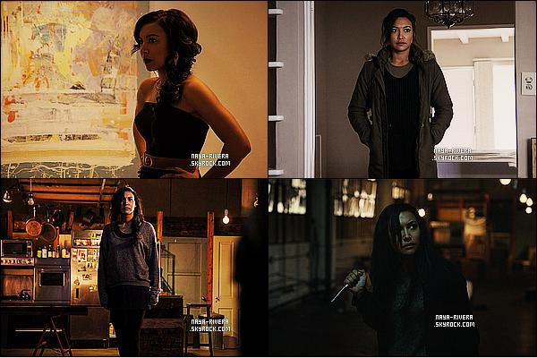 *  Plusieurs stills du film      At the devil's door font leur apparition où Naya joue le rôle de   Vera Moreno. *