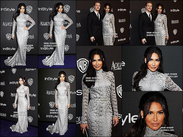 * 11/01/15 : Naya  était présente avec Ryan au  InStyle & Warner Golden Globe Awards   situé à  Beverly Hills.     Naya  a choisis une tenue argenté pour cette sortie. Je la trouve vraiment très jolie et également très élégante, c'est donc un définitif TOP ! *