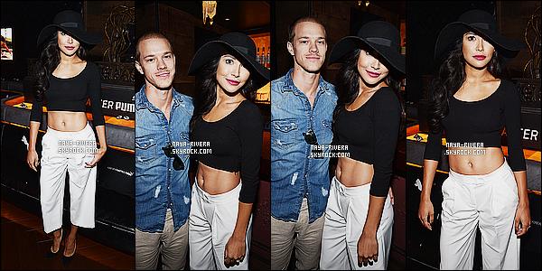 * 12/08/14 : Naya  a été aperçue avec Ryan D.  au concert de  Justin Timberlake   qui se déroulait à   Los Angeles.   Naya a choisis un chapeau un peu a l'italienne qui lui va bien mais le  côté négatif reste son pantalon que je n'aime pas vraiment un BOF   ! *