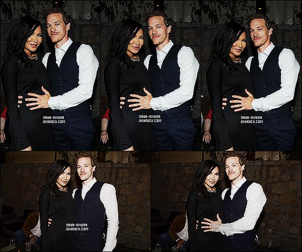 * 13/04/15 :. Naya était présente en compagnie de Ryan lors de la projection  de     Justified    situé à Los Angeles.   Le couple est juste hyper mignon.  Naya a opté  pour du noir depuis sa grossesse mais j'aime bien puis elle est totalement rayonnante  ! *