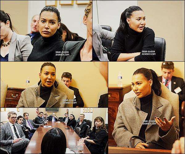 * 24/04/15 : Naya  était présente lors d'un      meeting   dans le bureau du Senate Minority Leader,   Harry Reid.   Ce ne sont pas les tenues que nous offre habituellement    Nay mais c'est tout a fait de circonstance. C'est donc un TOP pour l'évenement  ! *