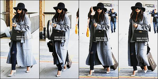 * 07/05/15 : Naya  a été aperçu une nouvelle fois seule à l'aéroport  le    LAX qui est  toujours situé à Los Angeles.     Je trouve que Naya est très jolie et plutôt classe aussi. Excepté son jean j'aime bien l'ensemble de sa tenue donc je dirais que  c'est   TOP  ! *