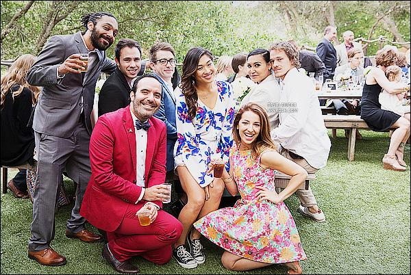 * ??/05/15 : Naya  avec  Ryan et quelques membres du  cast de Glee était au mariage de    Heather Morris  & Taylor.      Nay est très jolie et d'une grande classe. Malgré sa grossesse, elle arrive a trouvé de superbe tenue qui lui permet de rester d'une beauté   ! *