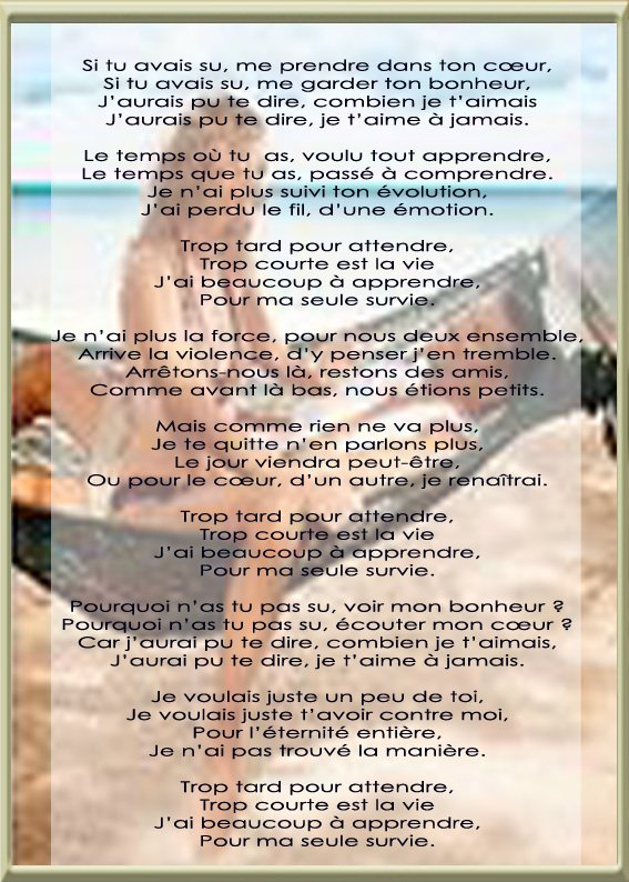 LE REGRET. de Skatell