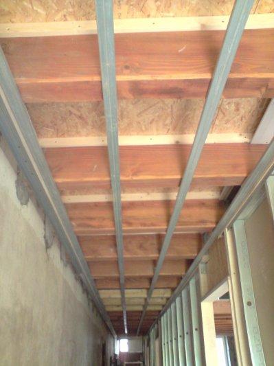 Faux Plafond Couloir faux plafond du couloir - je rénove ma ferme