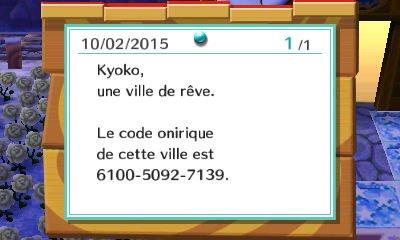 Code onirique (1 à 3)