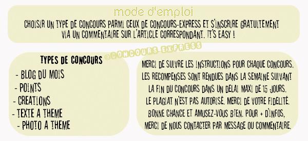 CONCOURS-EXPRESS... MODE D'EMPLOI