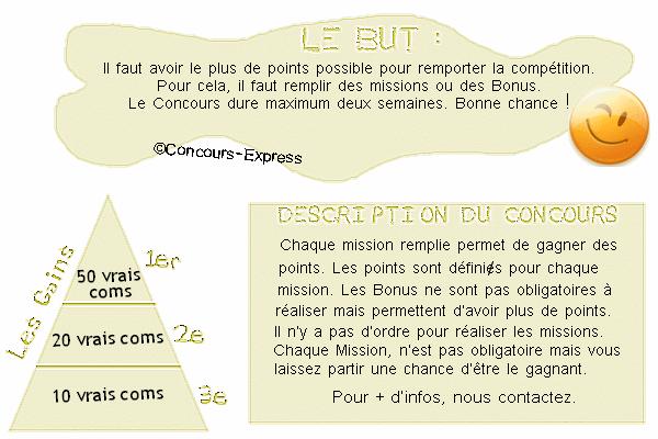 LE CONCOURS DE POINTS (Missions)