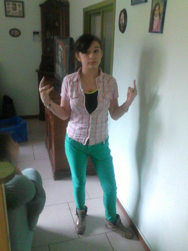 vert et rose !!