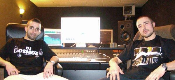 Dj Notilus & Dj Osmoz en studio