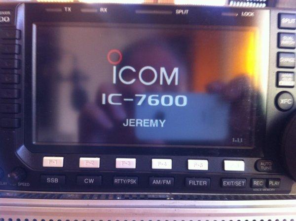 ICOM IC7600 AU DÉMARRAGE HIIIII