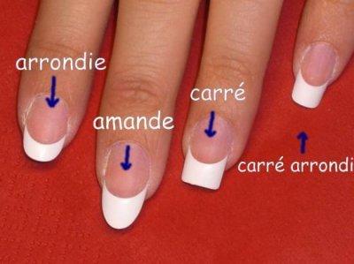 Présentation des différentes poses ongles